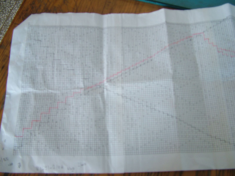 根据所需针数,整理花样,打印出来,用红色的勾出加减针,比照图织就可以了