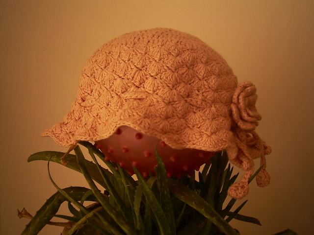 八股棉线钩的帽子