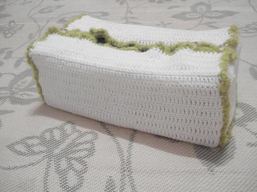 1、米米妹的圆棉线织的纸巾盒