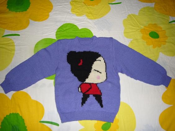 韩国小妹套头衫(紫色)