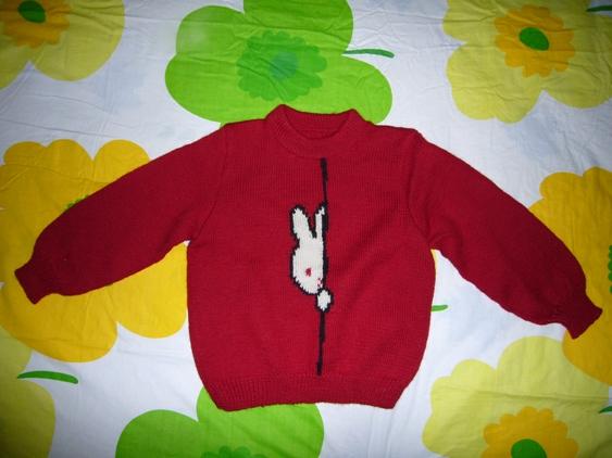 半边兔套头衫(红色)