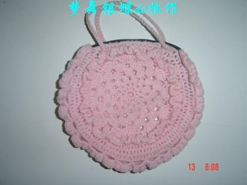 粉色的包包,夏天用很方便