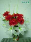 玫瑰和百合