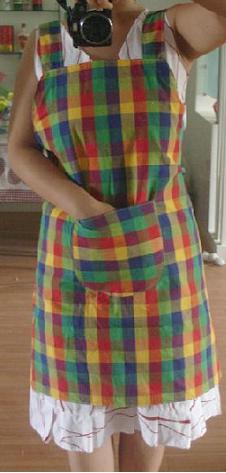 这是做好的围裙图样,是给同事做的哟,她喜欢,我自己更喜欢。