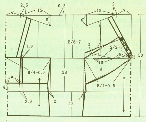[书籍教程]低胸吊带衫裁剪图_服装设计与裁剪_编织