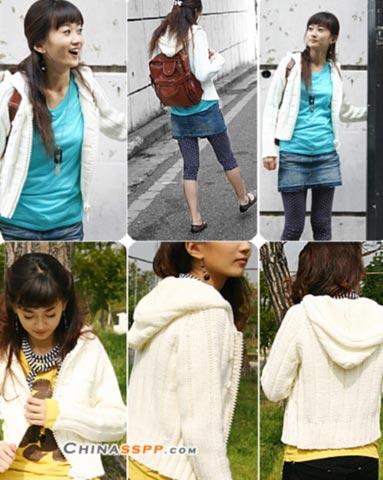 白色拉链毛衣在秋季为你打造最纯情一面,无论是裙装裤装,都让你与众不同