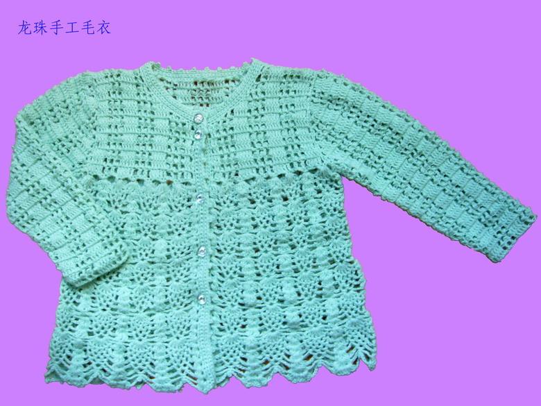 也是钩的,是雨妈的宝宝绒,很舒服的线。