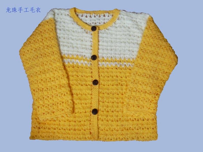 线线很柔软,是钩的第一件衣服,给女儿的。