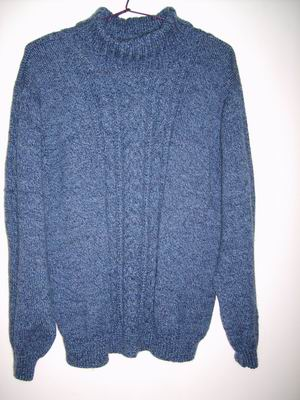 去年给我家那位织的毛衣
