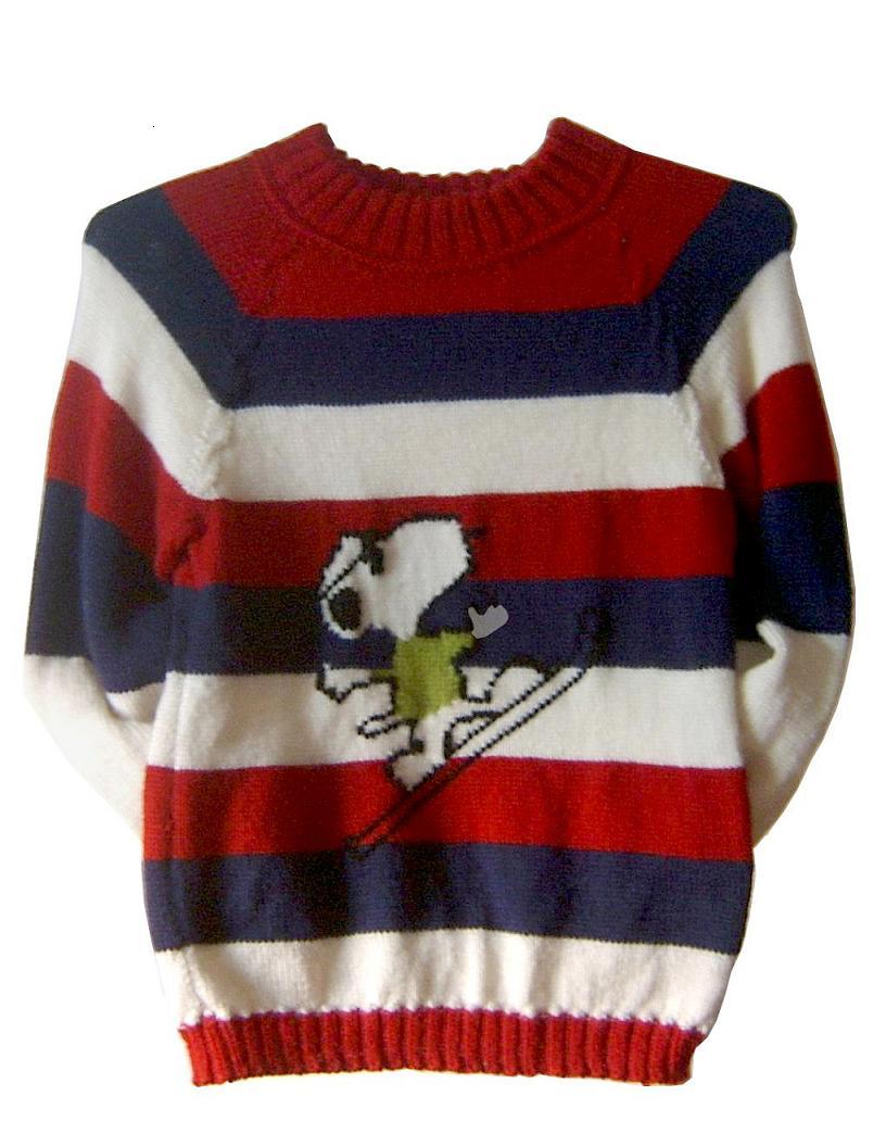 给儿子织的组绒毛衣:216针