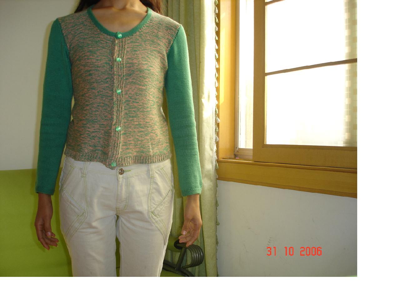 2股(5根为一股的那种)棉线织的上衣
