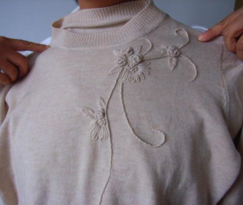 同事的机织羊绒衣服