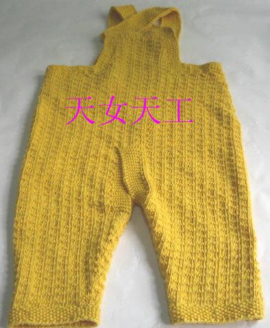 婴儿全棉开档背带裤