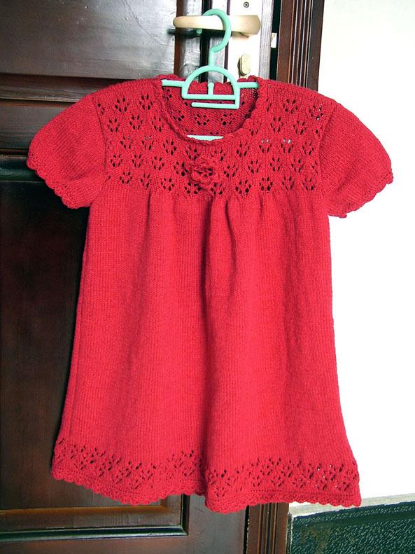 大红3股圆棉的背心裙