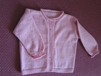 红樱桃线织的宝宝套装