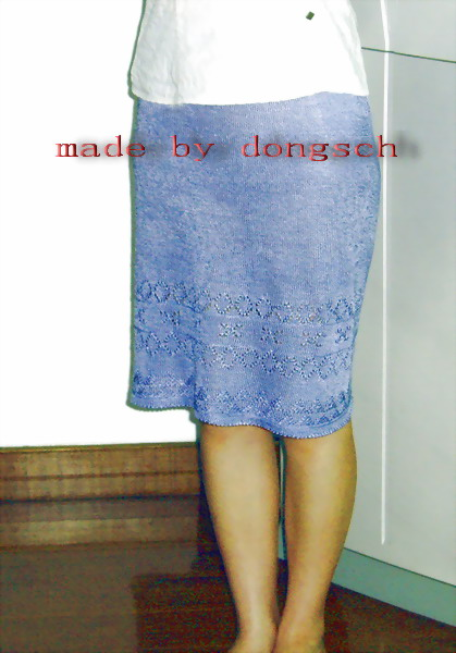 为工作需要织的第一条丝光棉裙子