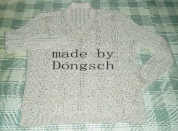 给老公织的第一件毛衣