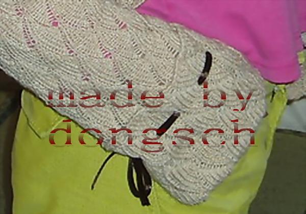 袖子特写:使用了过过的丝带