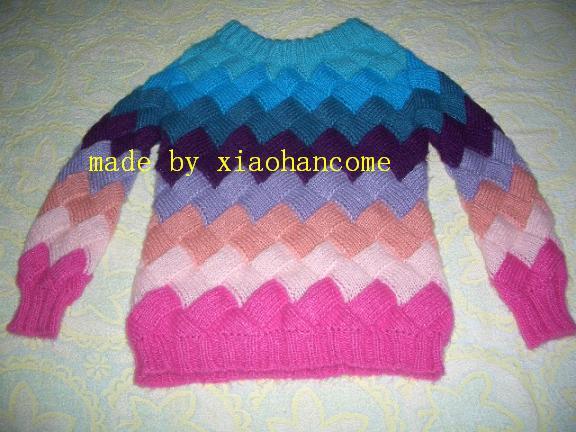 在论坛里学的彩虹毛衣
