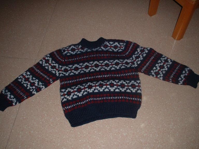 儿子以前的花毛衣