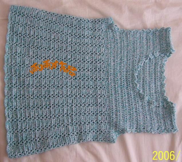瑞小小的线 棉混纺的 下摆钩的大 正好孕妇穿的 呵呵