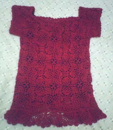 红色短袖丝光棉的