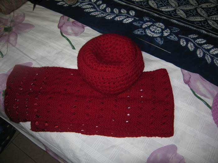 粗线大料瓣保暖帽