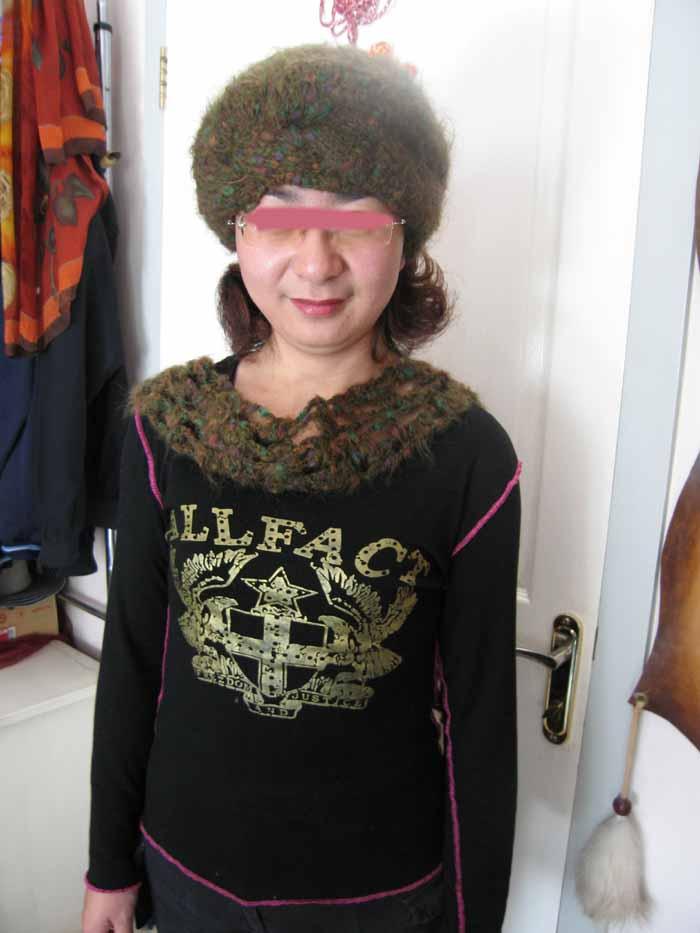 马海毛保暖帽