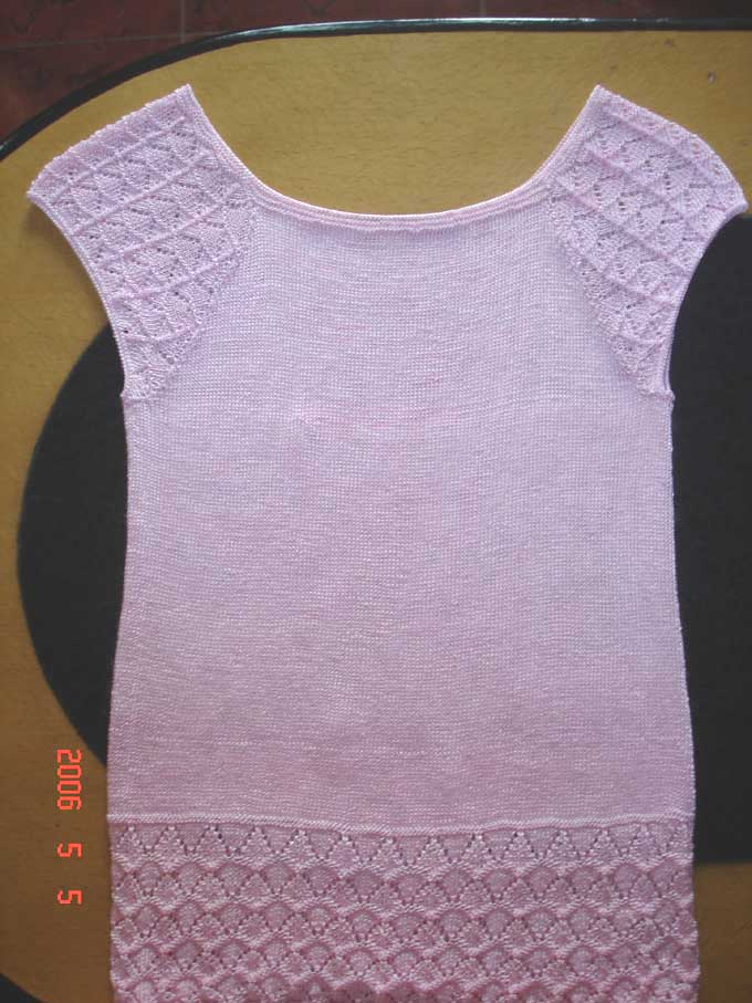 粉色冰丝衫