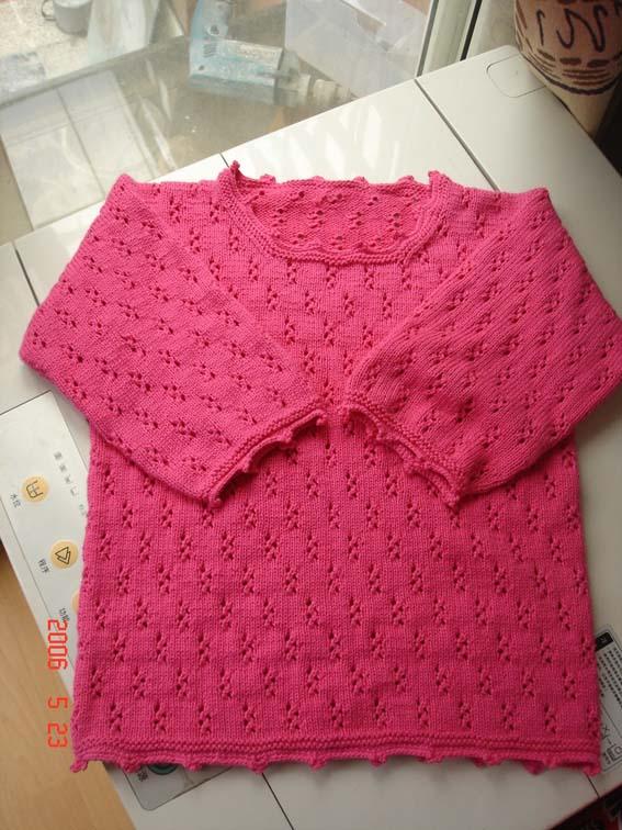 枚红棉线衣