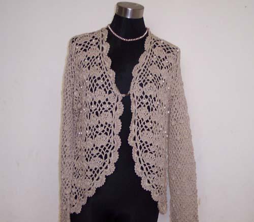 织好送人的一件衣衣,丝光棉,用量八两.