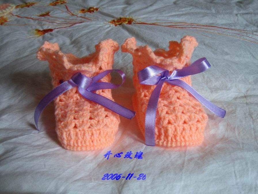 米米妹的宝宝绒线钩的宝宝鞋