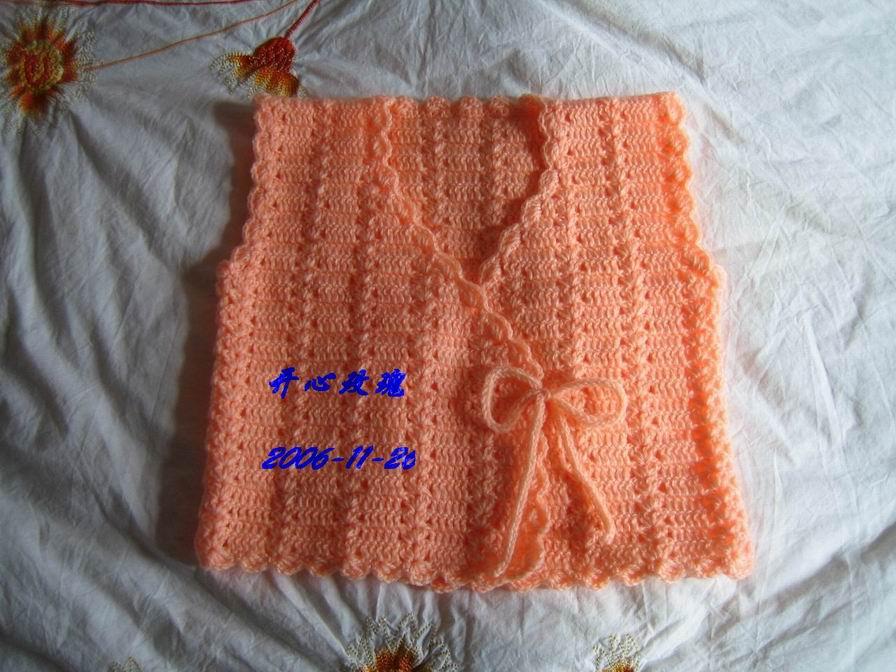 米米妹的宝宝绒线钩的宝宝背心
