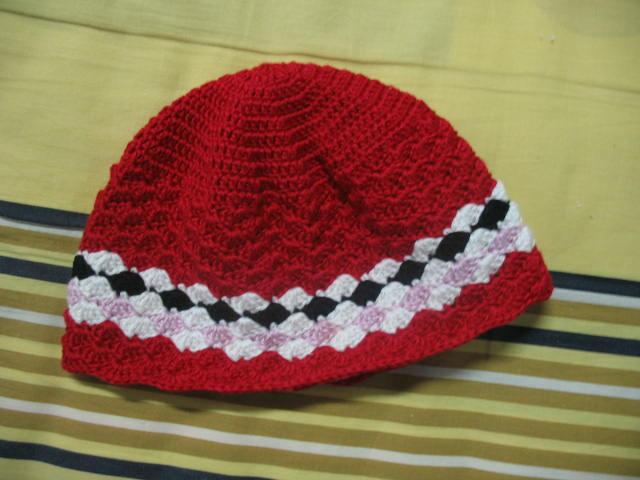 外加顶帽子,用了十股的丝光棉.