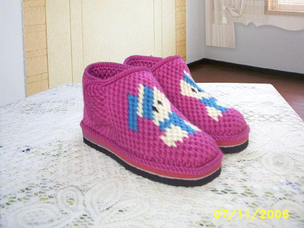 新钩的棉鞋