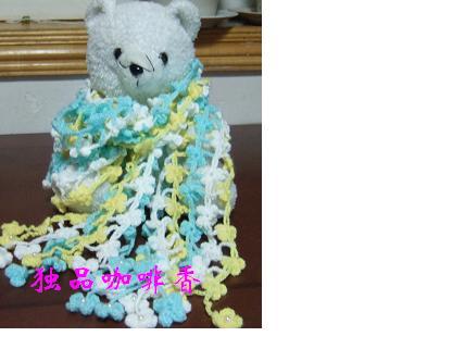 哈,家里太乱,没敢让女儿围着照,只好让她的小熊熊当模特了