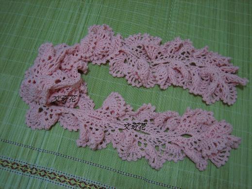 像花朵的圍巾粉紅色1.jpg