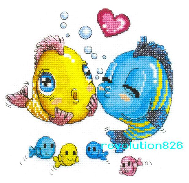 卡通版接吻鱼的那个图解