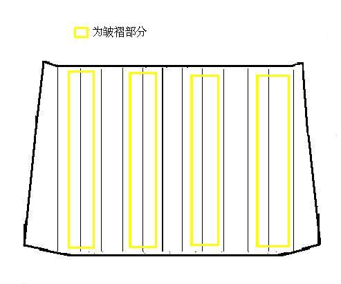 3、用画粉对主片进行线迹的标记,以方便以后的制作皱褶。