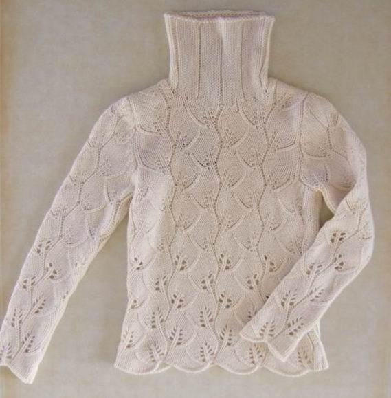 就是这件白毛衣,