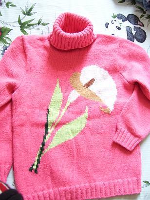 婆婆给我织的(花很好看的)