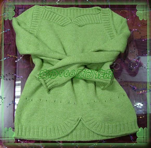 流行家的60羊绒线---http://bbs.bianzhirensheng.com/read-htm-tid-111173.html这款衣服就是我绿色毛衣的原