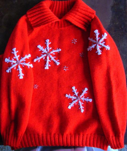 4岁孩子的衣服  冬天里的雪花