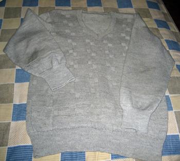 老公穿了七年的毛衣