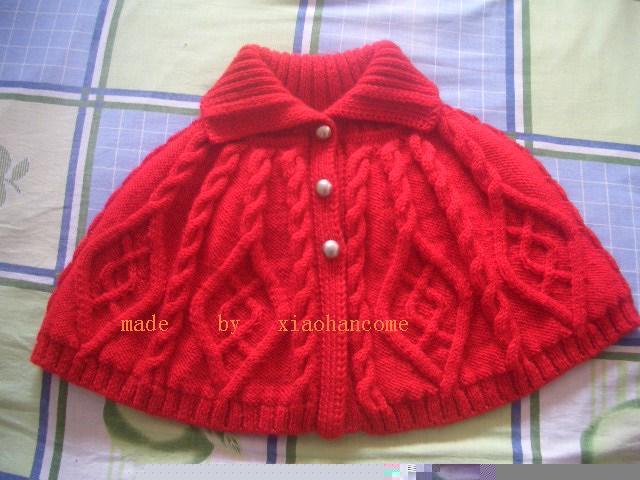 给宝贝疙瘩的大红披肩