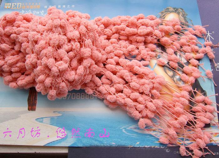 2#线样品!真的是很PL的颜色,一边织一边就围上了。手感好到极点,织好后俺就抱着它睡了!嘿嘿!