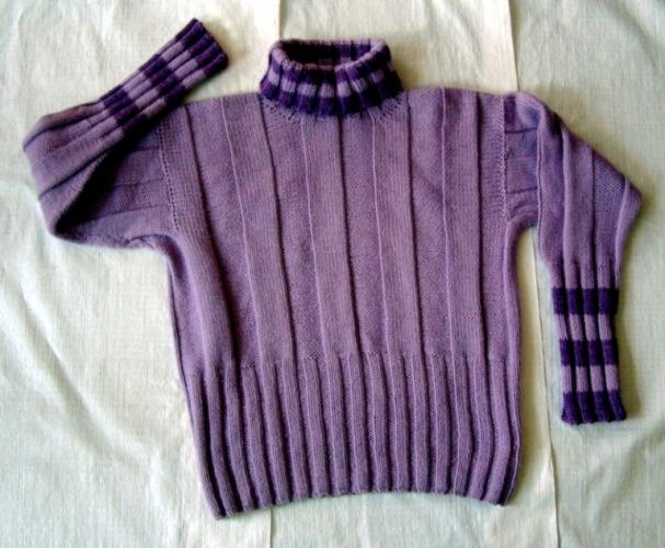 一件编织简单效果不错的毛衣