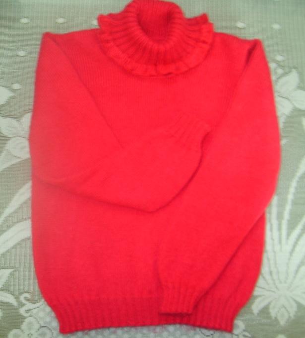 3股绵羊绒编织的儿童衣,用线4两不到,朋友的女儿今年7岁