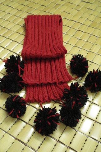 一套的围巾