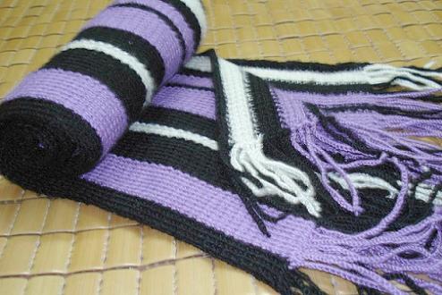 俺第一条彩条围巾,也是摸索着前进的